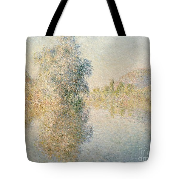 Early Morning On The Seine At Giverny Tote Bag by Claude Monet