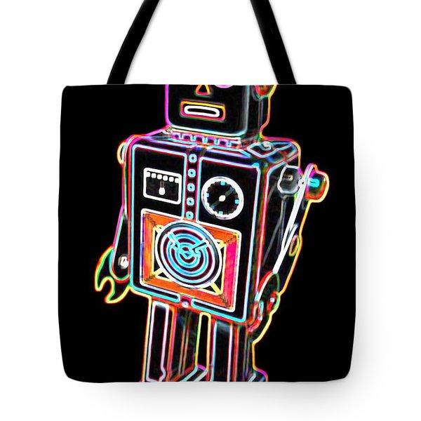 Easel Back Robot Tote Bag by DB Artist