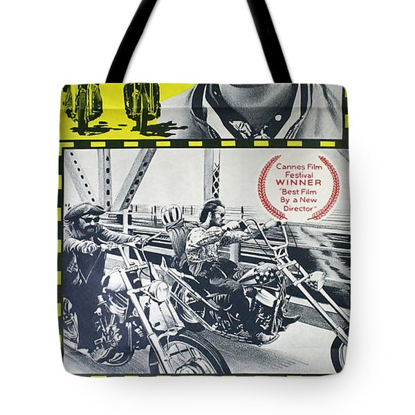 Easy Rider Movie Lobby Poster  1969 Tote Bag by Daniel Hagerman