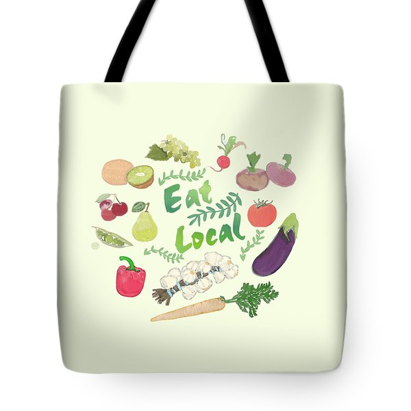 Eat Local  Tote Bag by Priscilla Wolfe