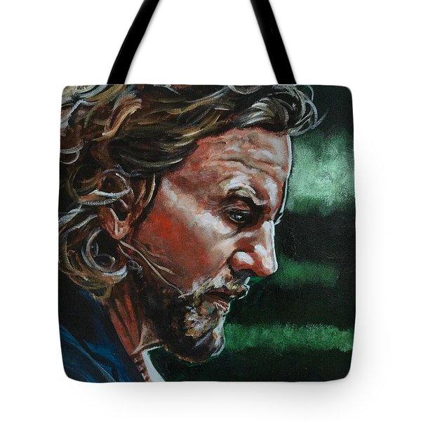Eddie Vedder Tote Bag by Joel Tesch