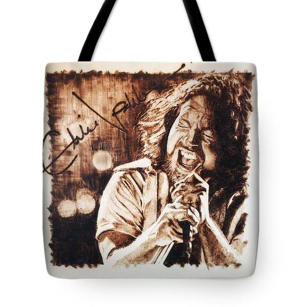 Eddie Vedder Tote Bag by Lance Gebhardt