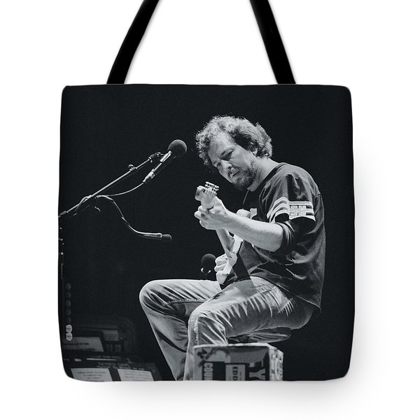 Eddie Vedder Playing Live Tote Bag by Marco Oliveira