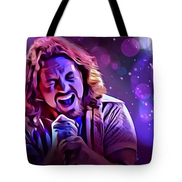 Eddie Vedder Portrait Tote Bag by Scott Wallace