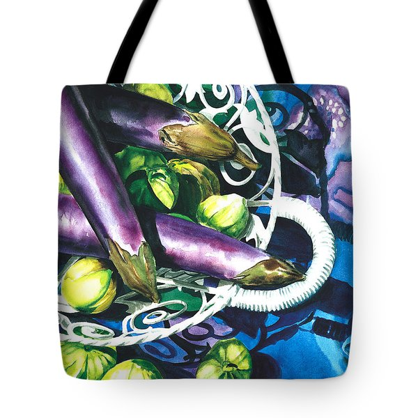 Eggplants Tote Bag by Nadi Spencer