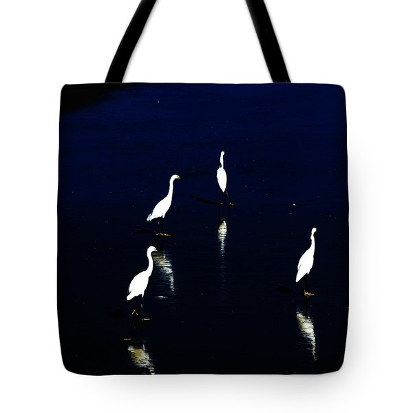 egret reflections Tote Bag by David Lane