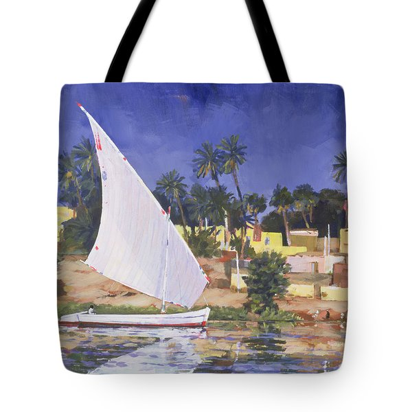 Egypt Blue Tote Bag by Clive Metcalfe