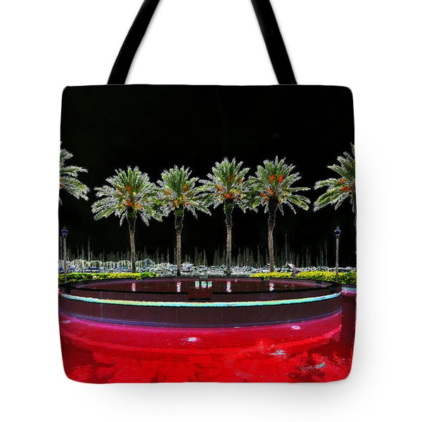 Eight Palms Drinking Wine Tote Bag by David Lee Thompson
