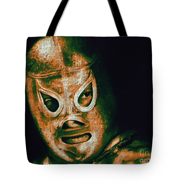 El Santo The Masked Wrestler 20130218 Tote Bag by Wingsdomain Art and Photography