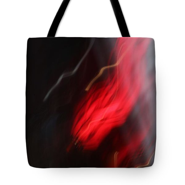 Electric Red And Yellow Tote Bag by Karin Kohlmeier