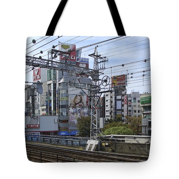 ELECTRIC TRAIN SOCIETY -- KANSAI REGION JAPAN Tote Bag by Daniel Hagerman