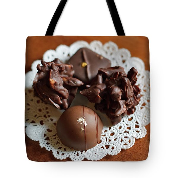 Elegant Chocolate Truffles Tote Bag by Louise Heusinkveld