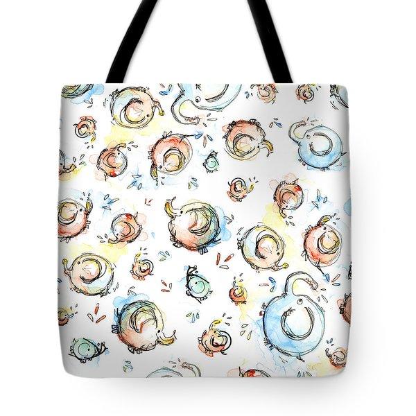 Elephant Pattern Watercolor Tote Bag by Olga Shvartsur
