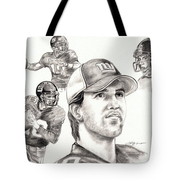Eli Manning Tote Bag by Kathleen Kelly Thompson