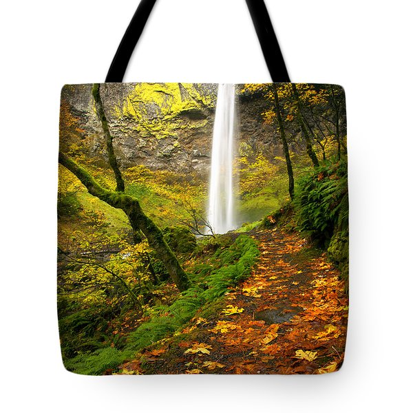 Elowah Autumn Trail Tote Bag by Mike  Dawson