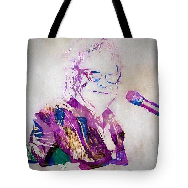 Elton John Tote Bag by Dan Sproul