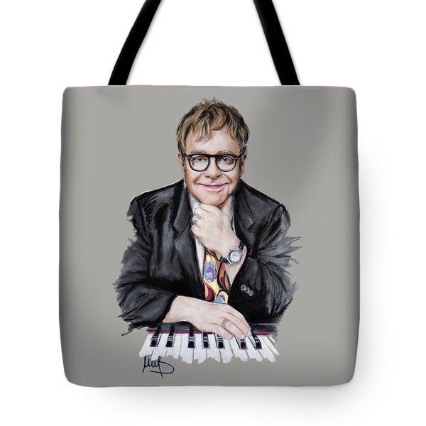 Elton John Tote Bag by Melanie D