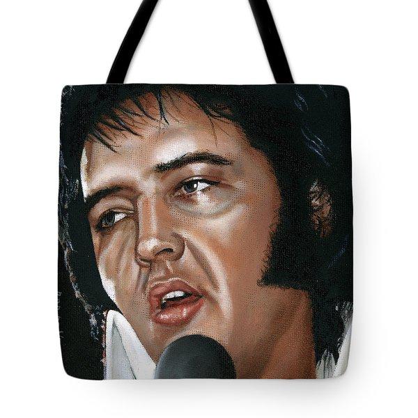 Elvis 24 1975 Tote Bag by Rob De Vries