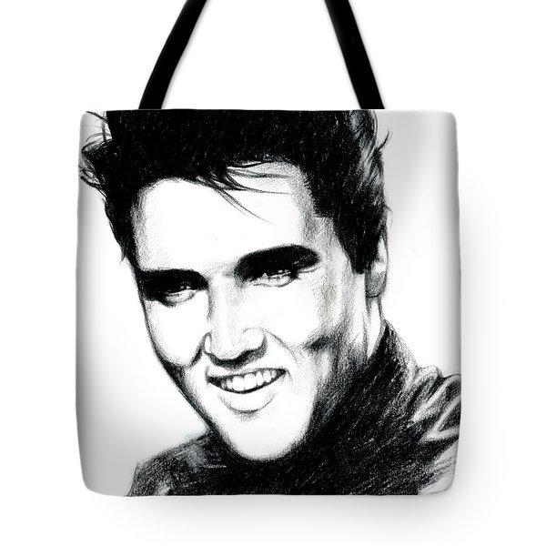 Elvis Tote Bag by Lin Petershagen