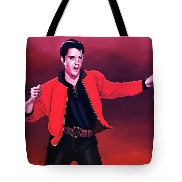 Elvis Presley 4 Painting Tote Bag by Paul Meijering