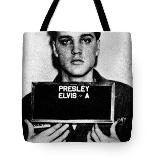 Elvis Presley Mug Shot Vertical 1 Tote Bag by Tony Rubino