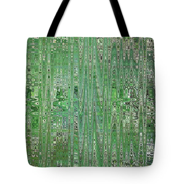 Emerald Green - Abstract Art Tote Bag by Carol Groenen