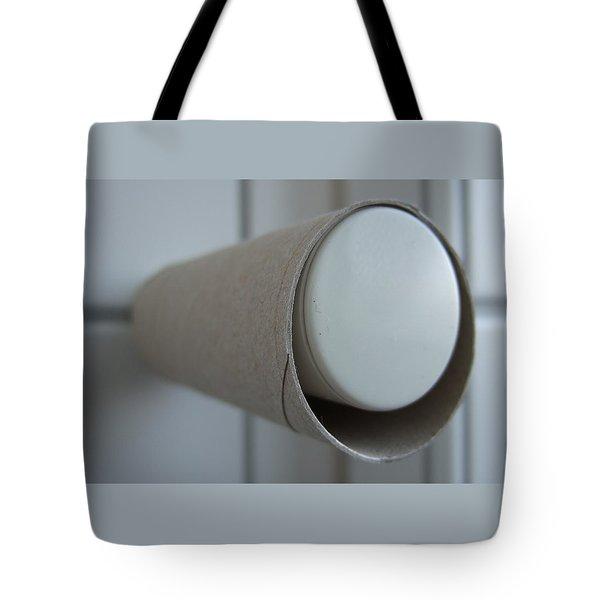 Empty toilet paper roll Tote Bag by Matthias Hauser
