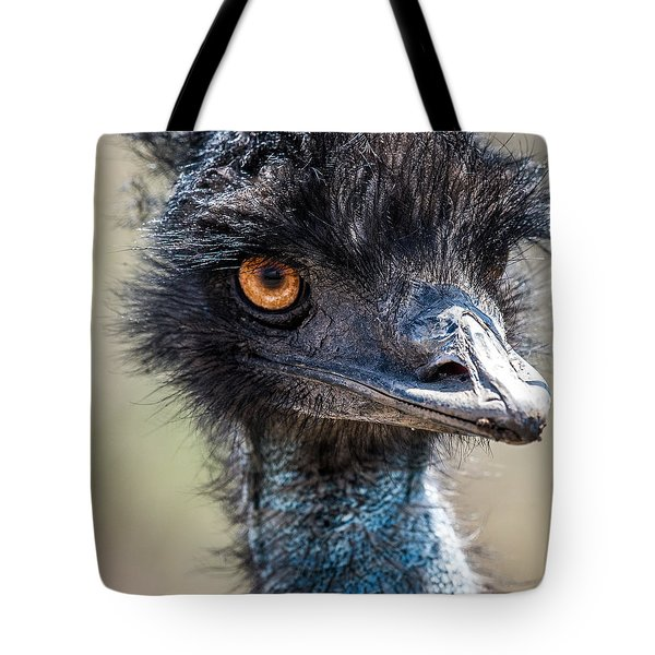 Emu Eyes Tote Bag by Paul Freidlund