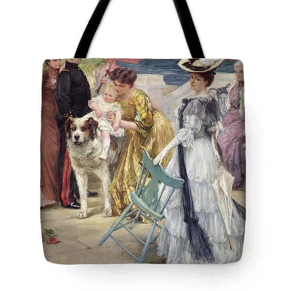 En Famille Tote Bag by Gustave Grau