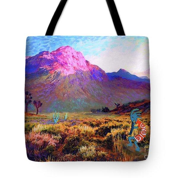 Enchanted Kokopelli Dawn Tote Bag by Jane Small