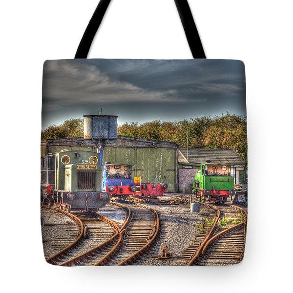 Engine Sheds Quainton Road Buckinghamshire Railway Tote Bag by Chris Thaxter