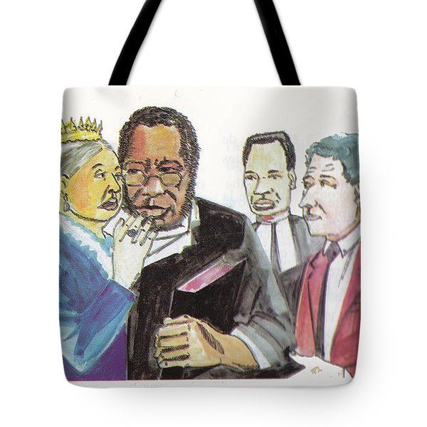England Queen With Ajayi Crowther Tote Bag by Emmanuel Baliyanga