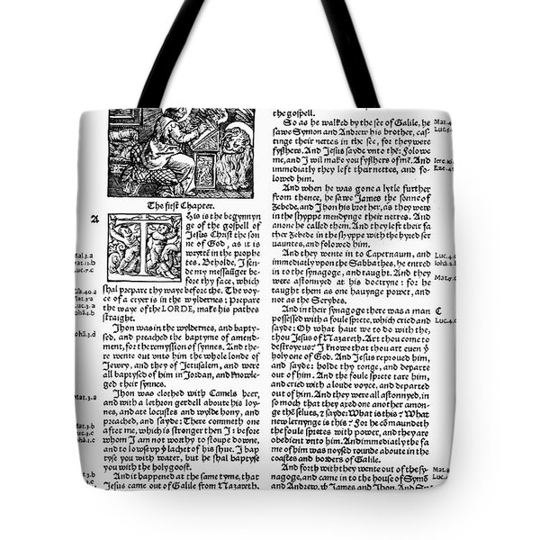 English Bible, 1535 Tote Bag by Granger