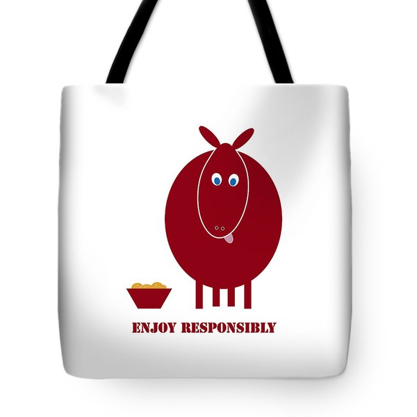 Enjoy Responsibly Tote Bag by Frank Tschakert