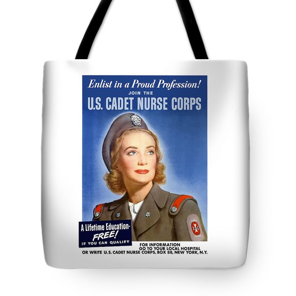 Enlist In A Proud Profession Tote Bag by War Is Hell Store