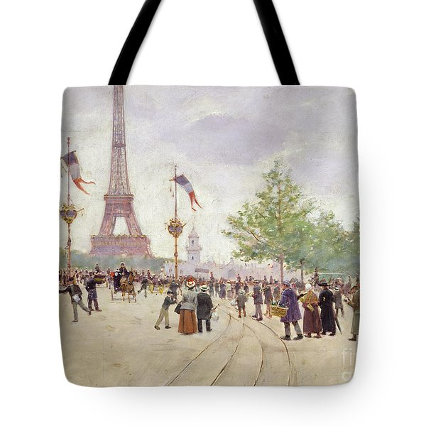 Entrance To The Exposition Universelle Tote Bag by Jean Beraud