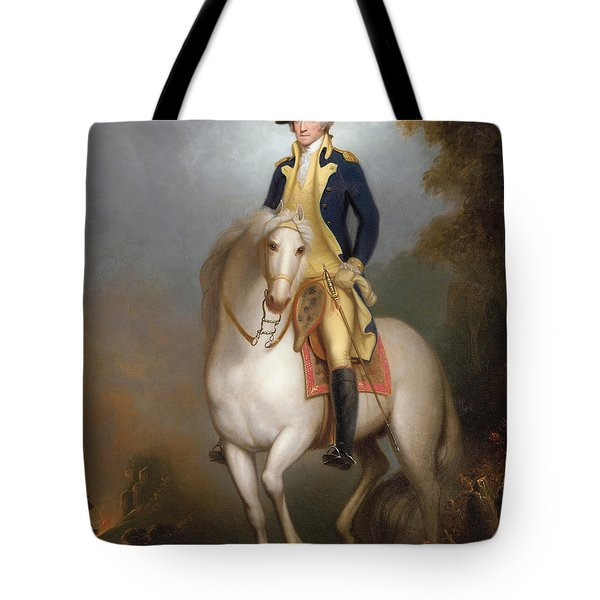 Equestrian Portrait Of George Washington Tote Bag by Rembrandt Peale