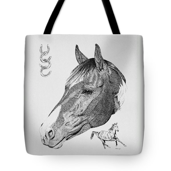Equine Profile Tote Bag by Malc McHugh