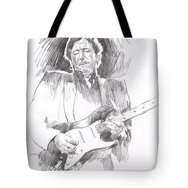 Eric Clapton Blackie Tote Bag by David Lloyd Glover