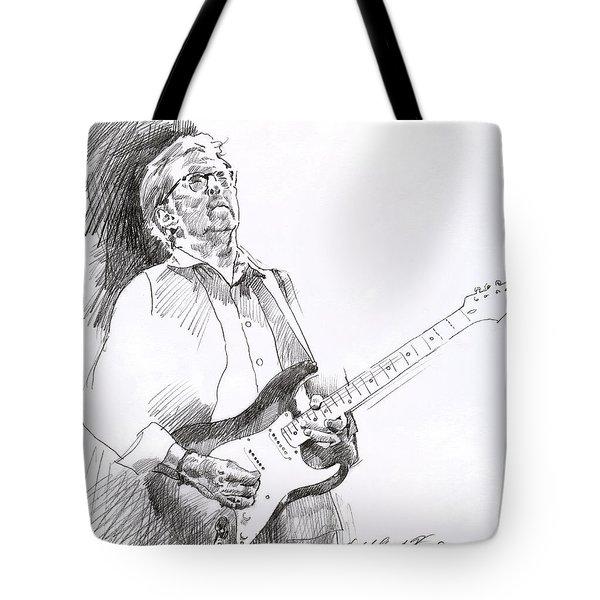 Eric Clapton Joy Tote Bag by David Lloyd Glover