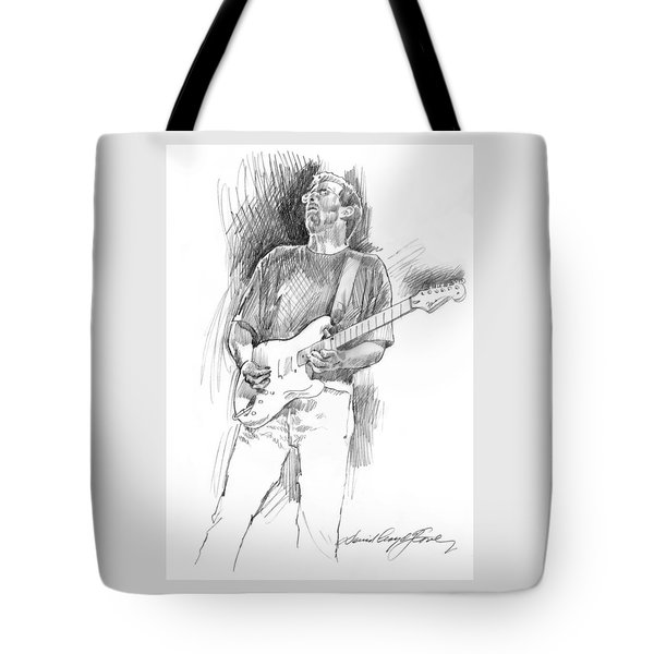 Eric Clapton Strat Tote Bag by David Lloyd Glover