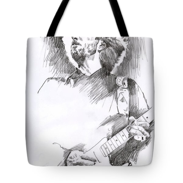 Eric Clapton Sustains Tote Bag by David Lloyd Glover