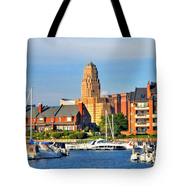 Erie Basin Marina Tote Bag by Kathleen Struckle