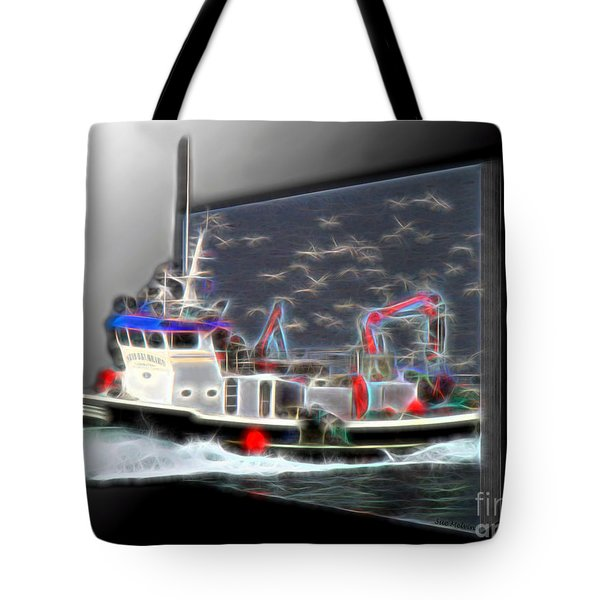 Escaping The Seagulls Tote Bag by Sue Melvin