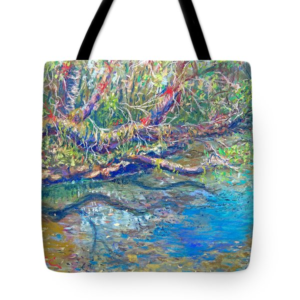 Estero River West Tote Bag by Laurie Paci