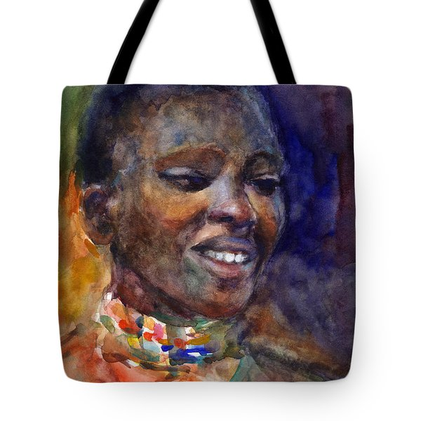 Ethnic Woman Portrait Tote Bag by Svetlana Novikova