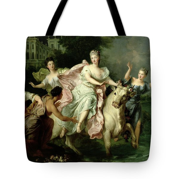 Europa Being Carried Off By Jupiter Metamorphosed Into A Bull Tote Bag by Pierre Gobert