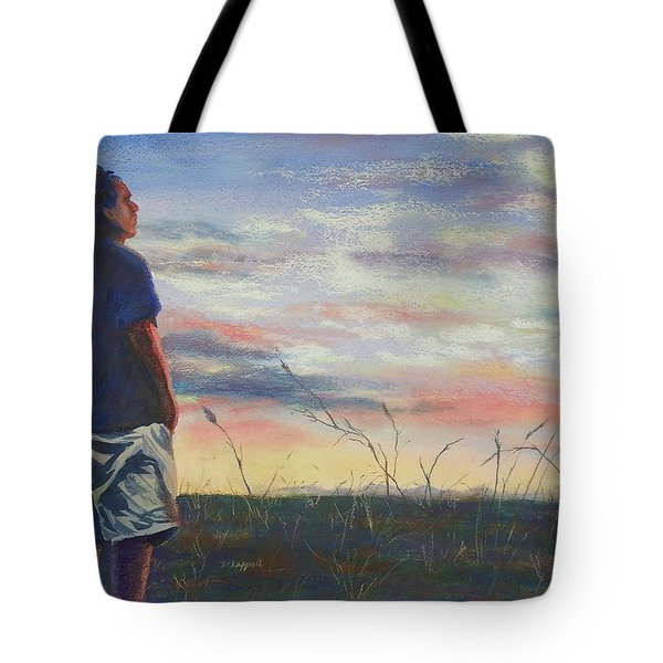 Evening Reflection Tote Bag by Becky Chappell