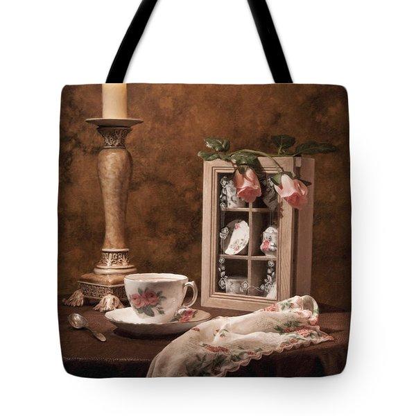 Evening Tea Still Life Tote Bag by Tom Mc Nemar