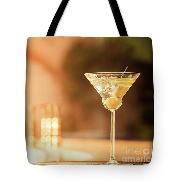 Evening With Martini Tote Bag by Ekaterina Molchanova